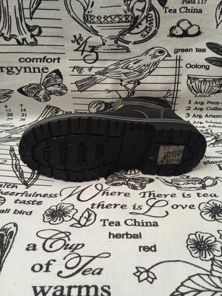 Детские ботинки для мальчиков ОРЛЕНОК из натуральной кожи, цвет: черный, артикул: TB-6718
