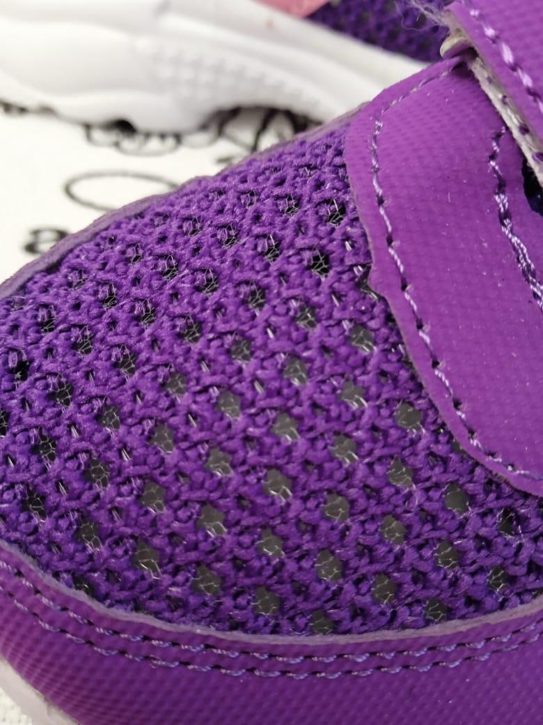 Детские кроссовки для девочек, цвет: фиолетовый, артикул: KL-F34-2