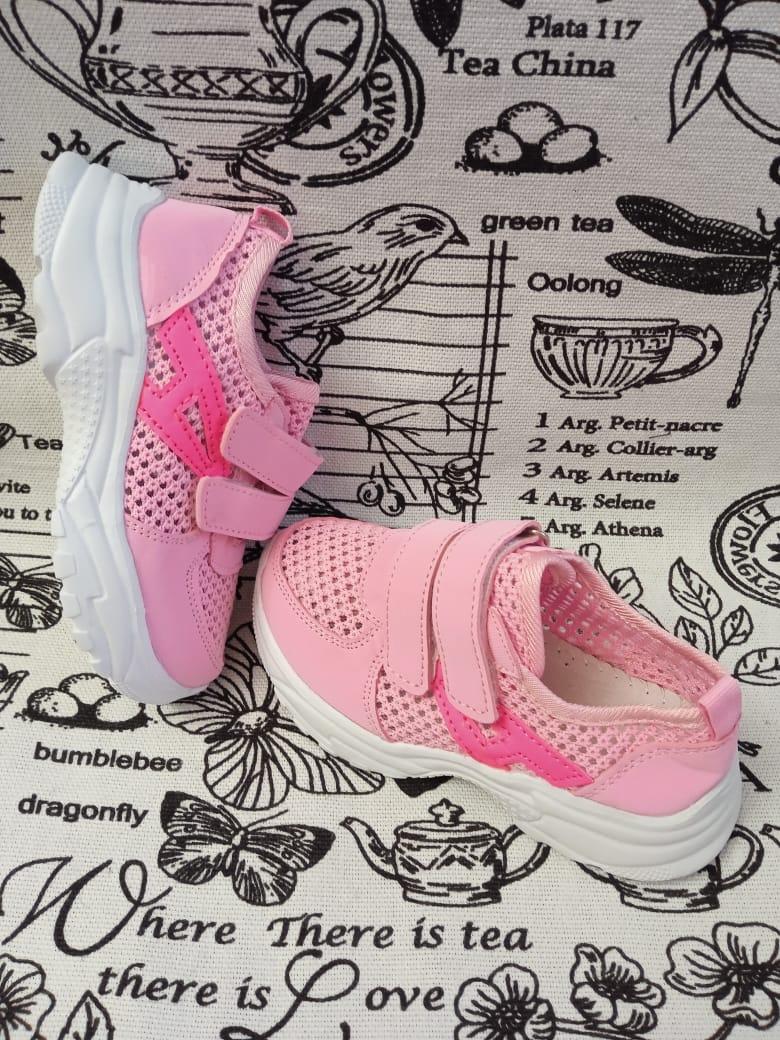 Детские кроссовки для девочек, цвет: розовый, артикул: KL-F34-1