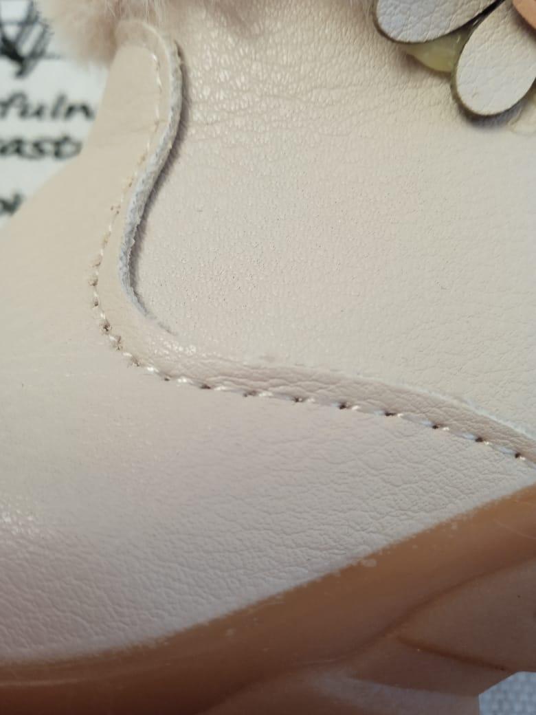 Детские ботинки зимние для девочек КОРОНА, цвет: бежевый, артикул: KRN-2