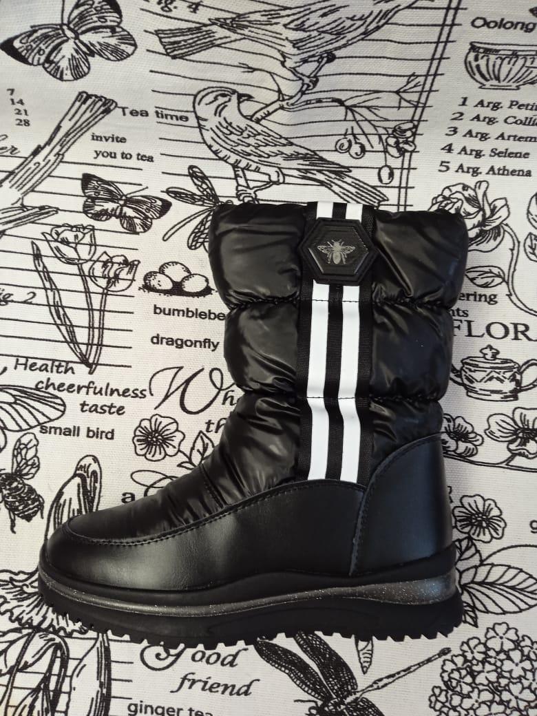 Детские ботинки зимние для девочек КАНАРЕЙКА, цвет: черный, артикул: KAN-5