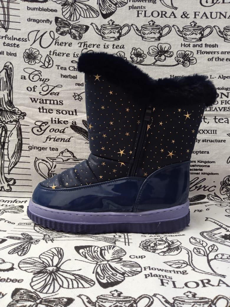 Детские ботинки зимние для девочек ПЧЕЛКА ДОМИ, цвет: сиреневый, артикул: PD-2