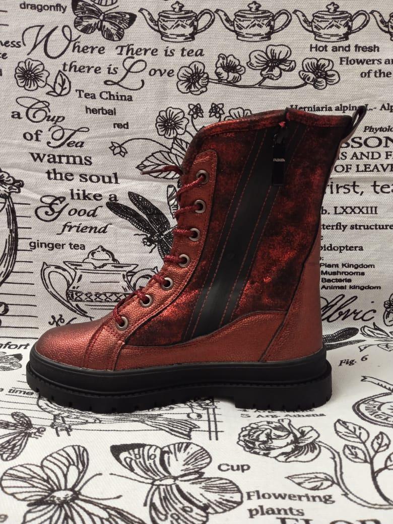 Детские ботинки зимние для девочек JONG.GOLF, цвет: красный, артикул: 95044-5