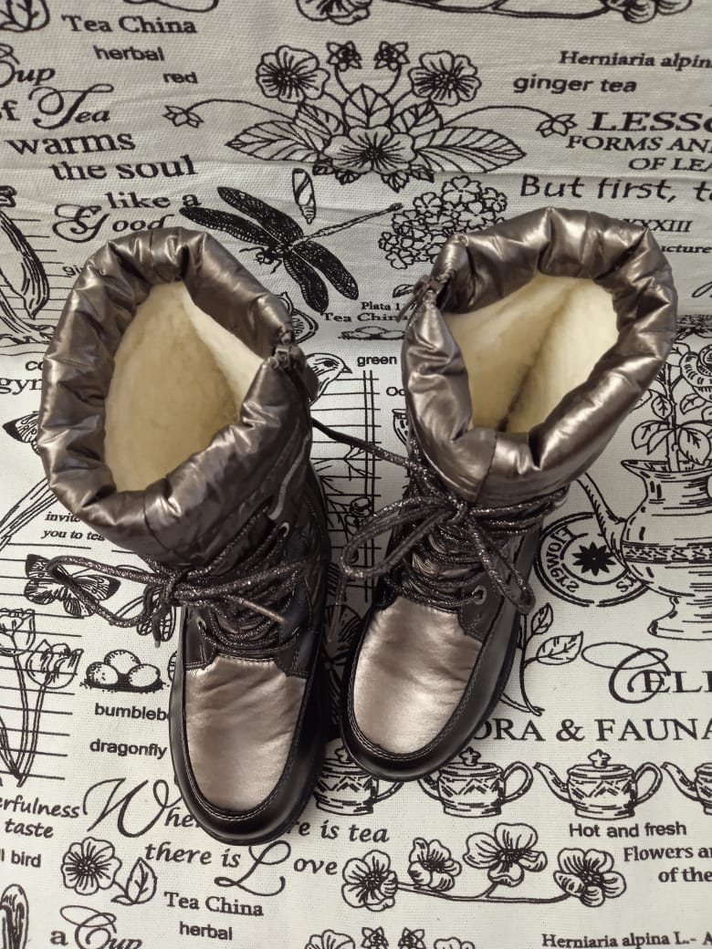 Детские сапоги зимние для девочек КАНАРЕЙКА, цвет: коричневый, артикул: KAN-4