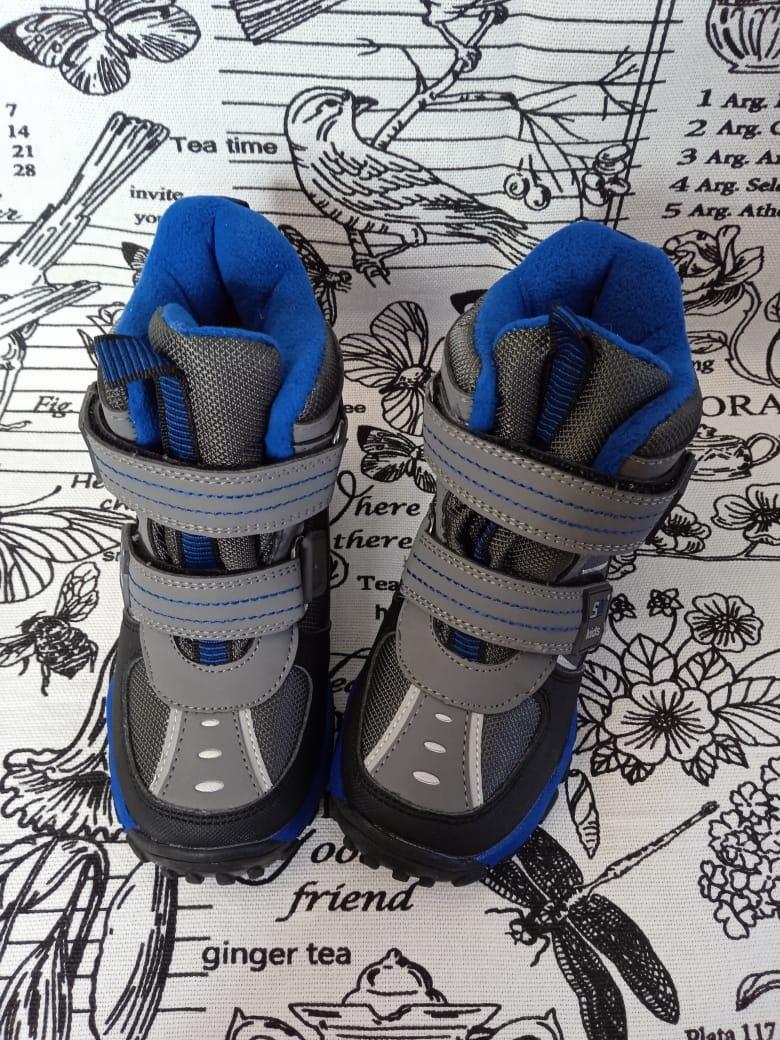 Детские сноубутсы зимние для мальчиков, цвет: синий, артикул: BD-79161-2