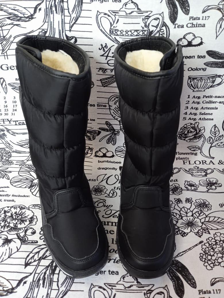 Детские сапоги зимние для девочек, цвет: черный, артикул: JB-1