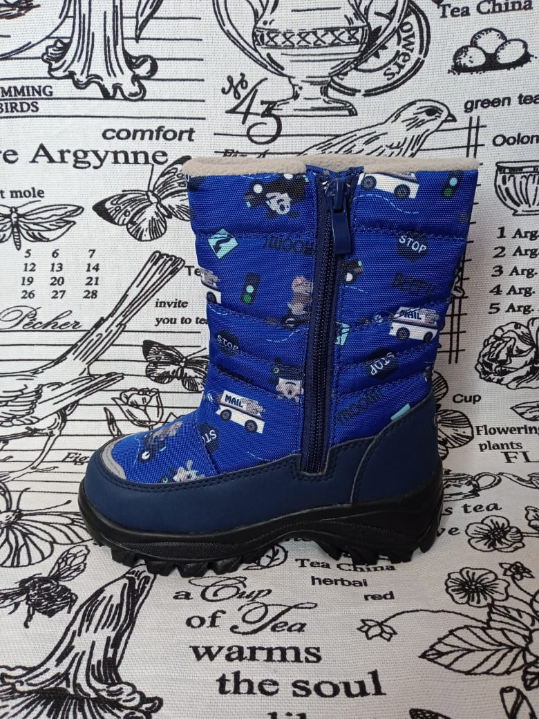 Детские сноубутсы зимние для мальчиков MILTON, цвет: синий, артикул: MIL-1