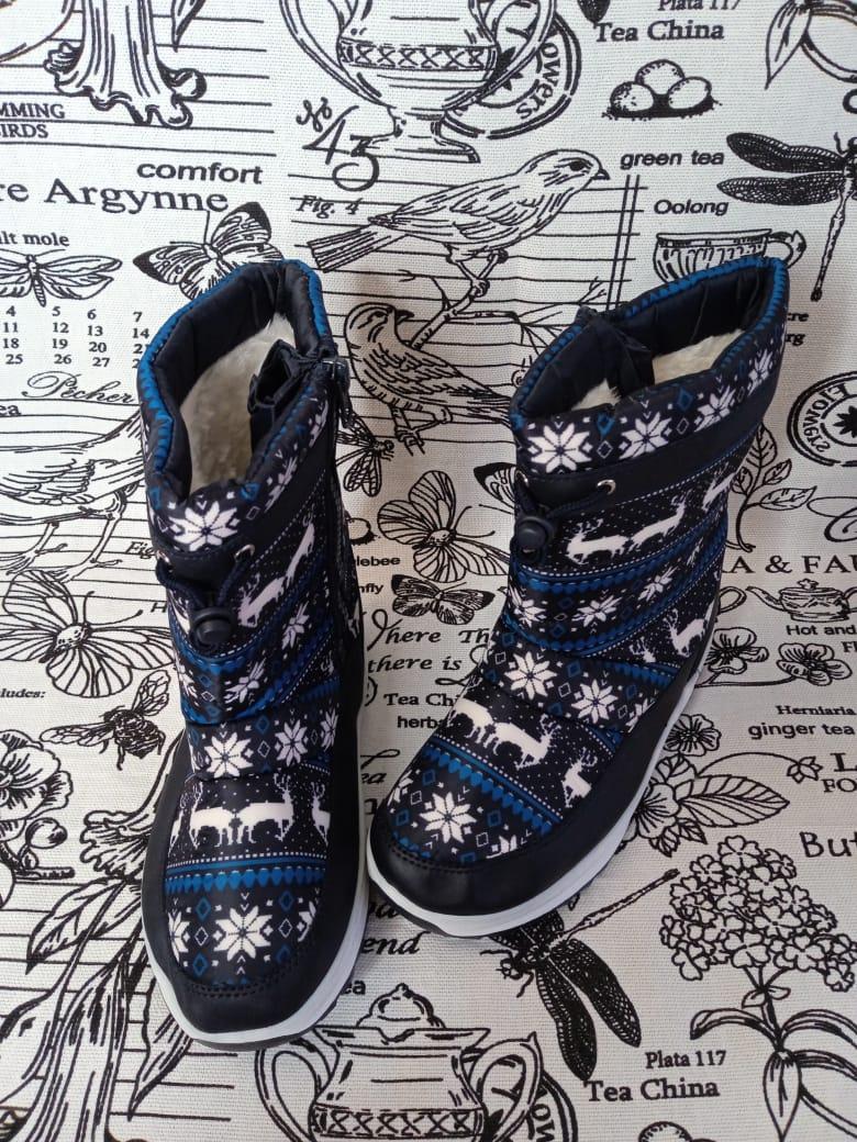 Детские сапоги зимние для девочек ТОТОШКА, цвет: синий, артикул: TOT-8
