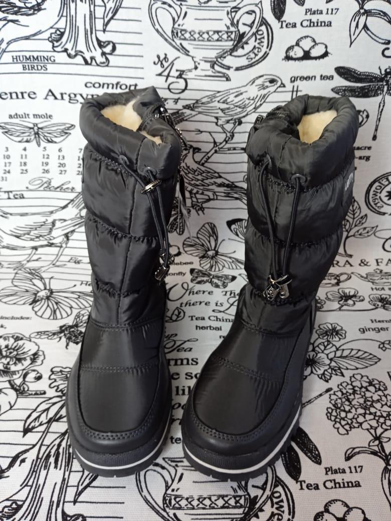 Детские сапоги зимние для девочек ALEMY KIDS, цвет: черный, артикул: KM-598B