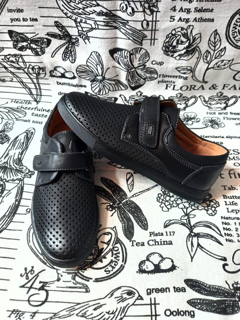 Детские туфли школьные для мальчиков ABBI, цвет: черный, артикул: LB1056-1A