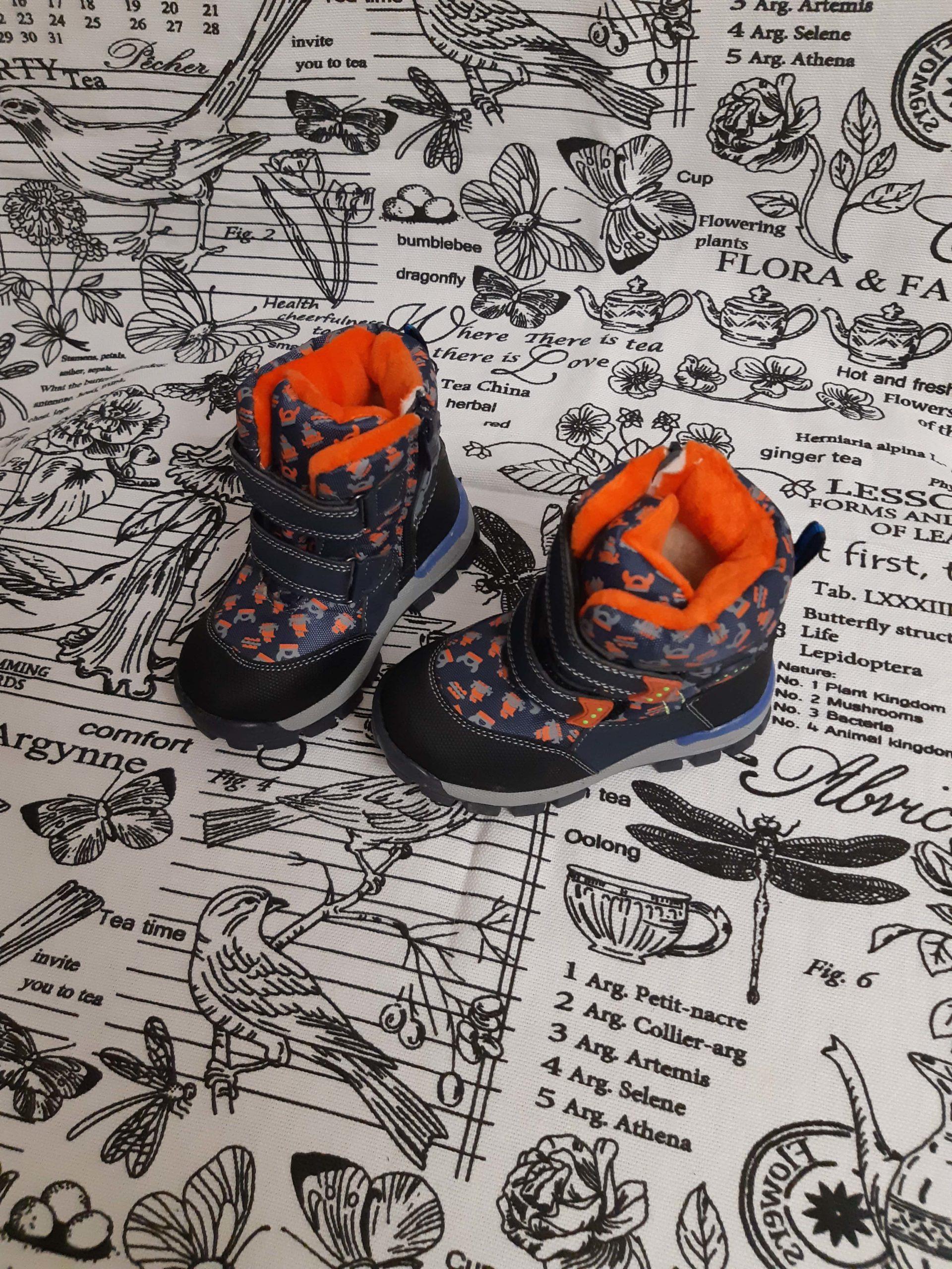 Детские сноубутсы зимние для мальчиков, цвет: оранжевый, артикул: 9802А-0102-2
