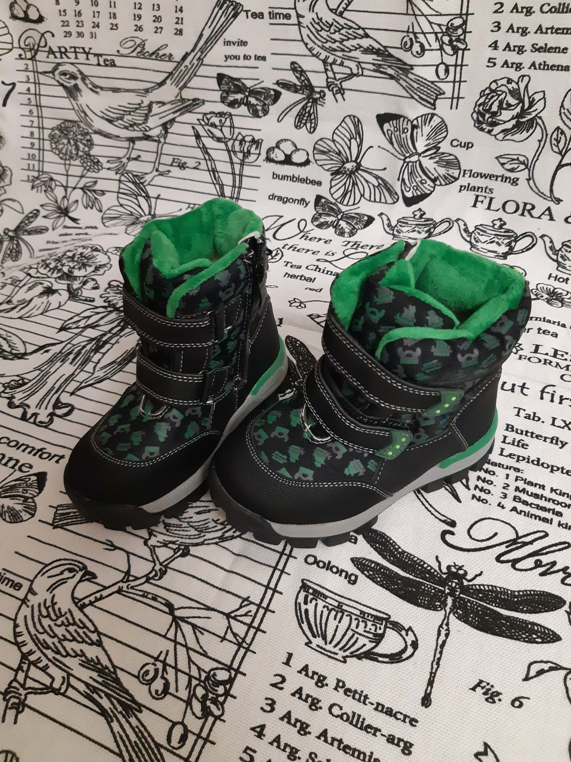 Детские сноубутсы зимние для мальчиков МИФЕР, цвет: зеленый, артикул: 9802А-0102-1