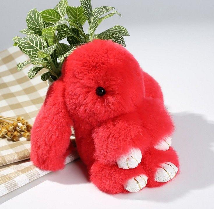 Меховая сумка-рюкзак Кролик