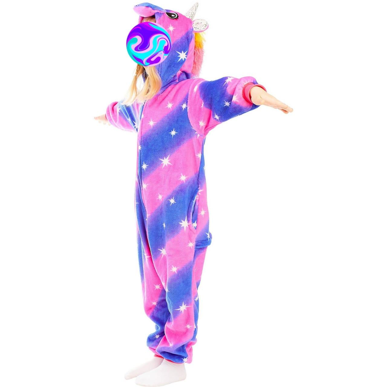 Детский кигуруми Единорог, цвет: фиолетовый, артикул: KIG-4