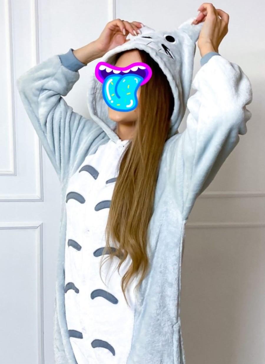 Детский кигуруми Кот, цвет: серый, артикул: KIG-6