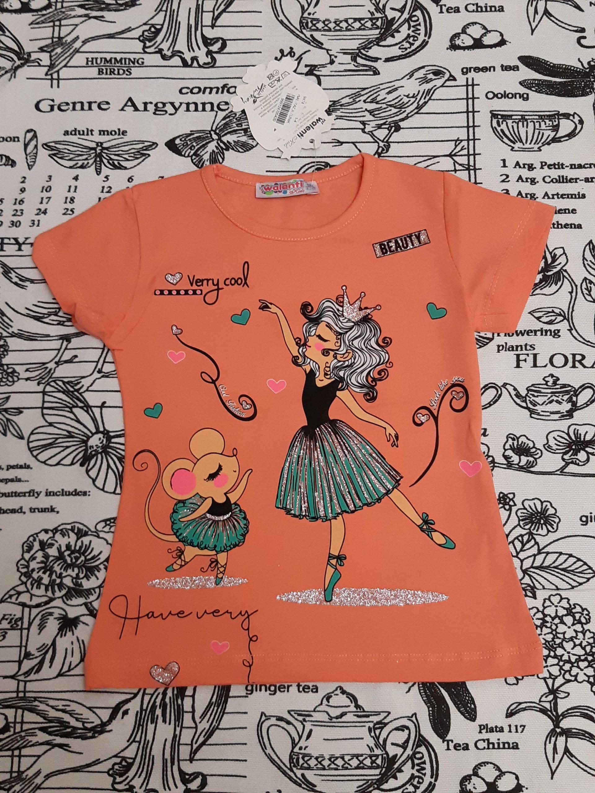 Детская футболка с принцессой для девочки