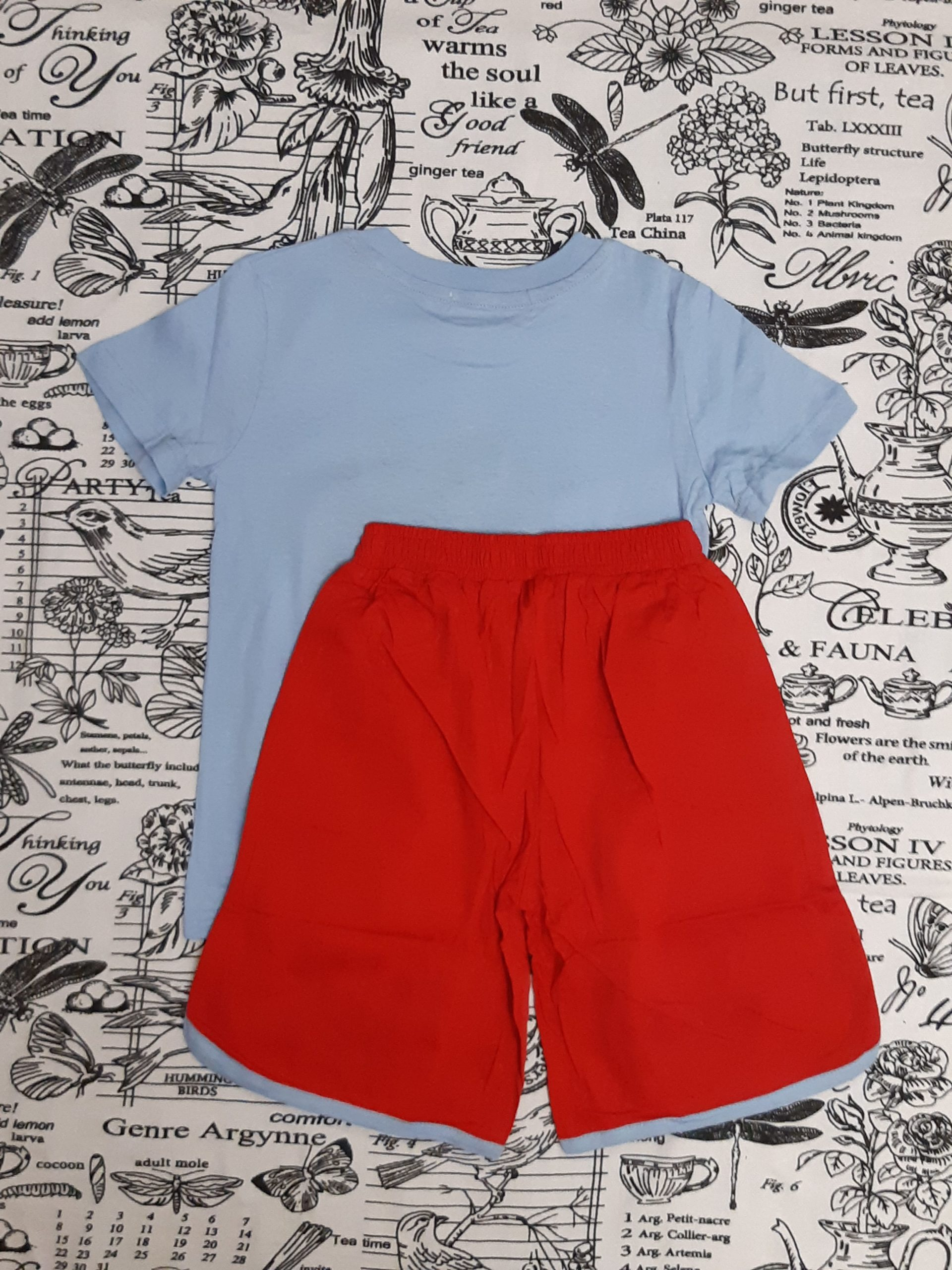 Детский костюм (футболка + шорты) с гитарой для мальчика