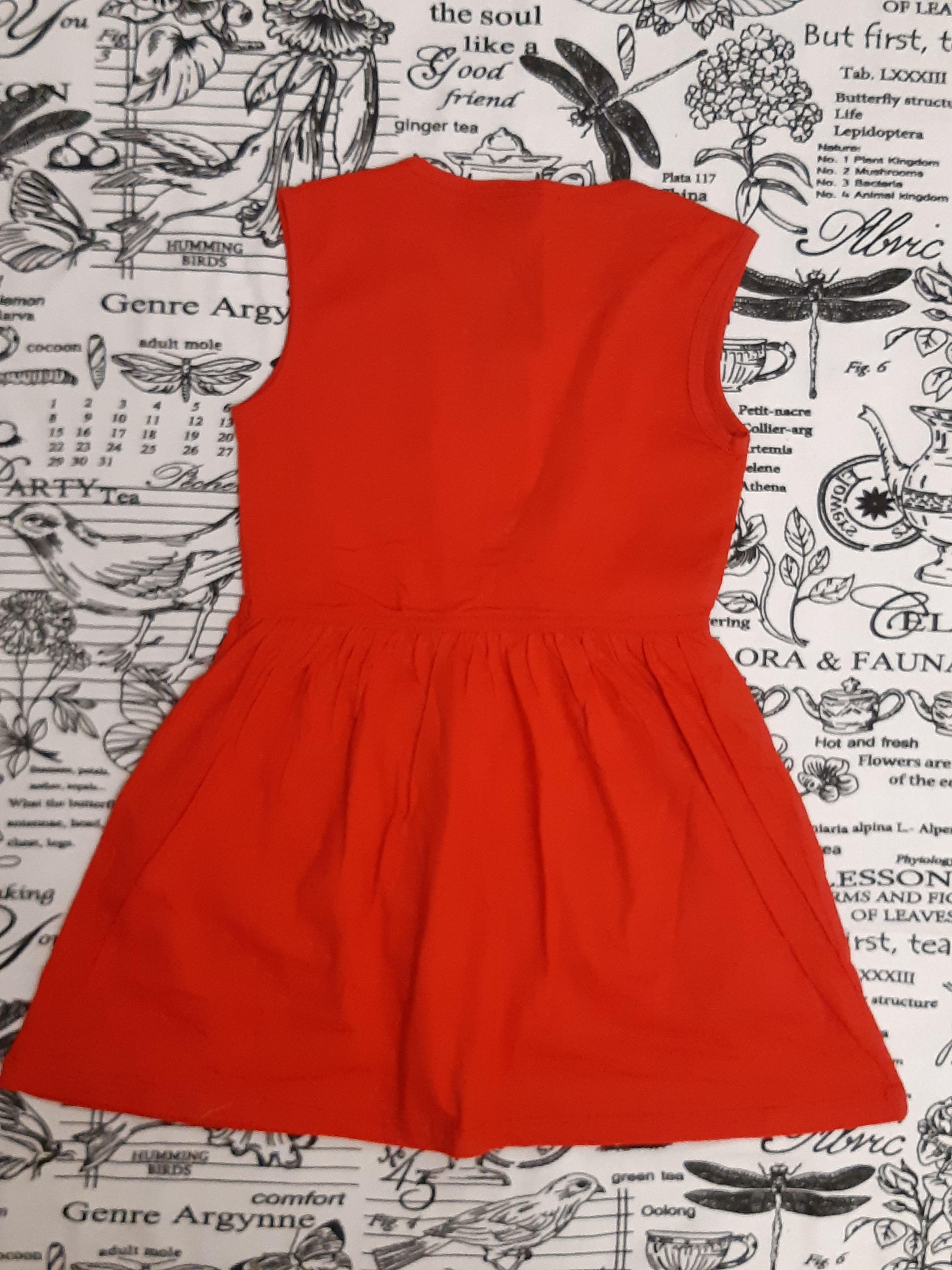 Детское платье для девочки, цвет: красный