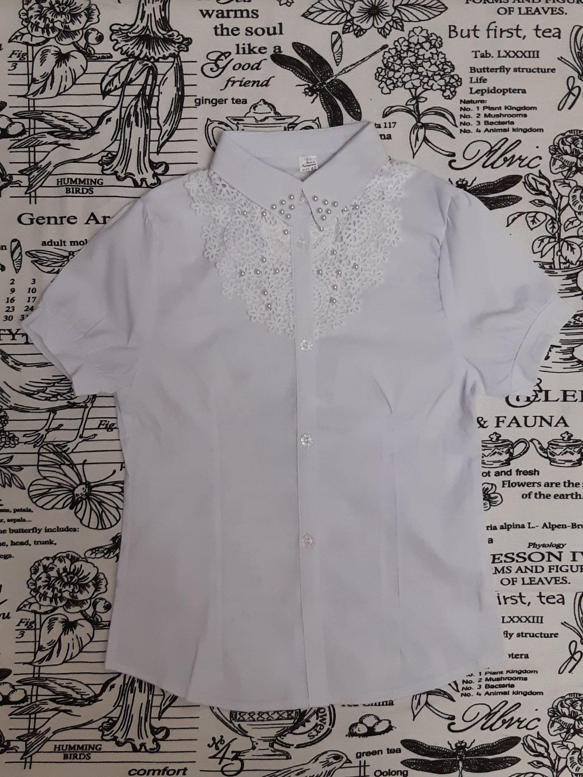 Блузка с жемчужинами для девочки