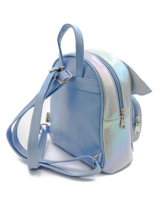 Детский рюкзак Ангелочек для девочек, цвет: перламутровый, голубой