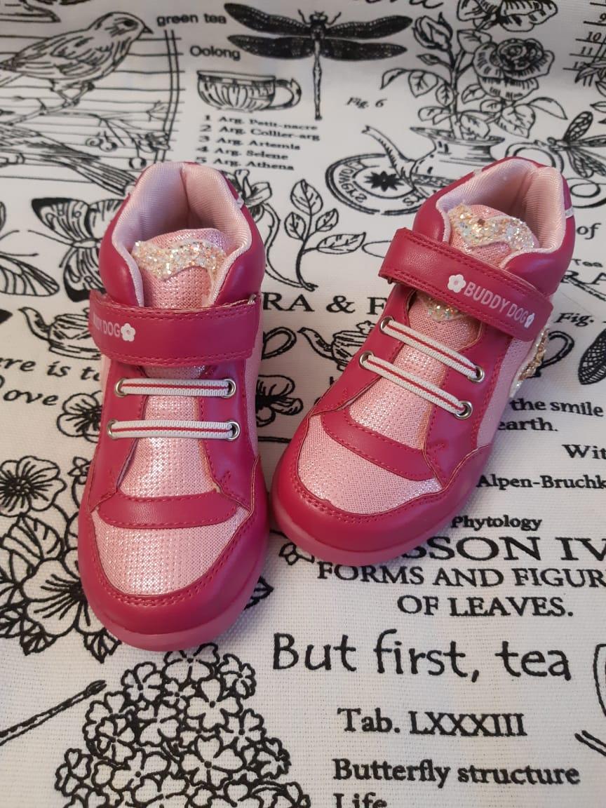Детские ботинки BUDDY DOG для девочек из натуральной кожи