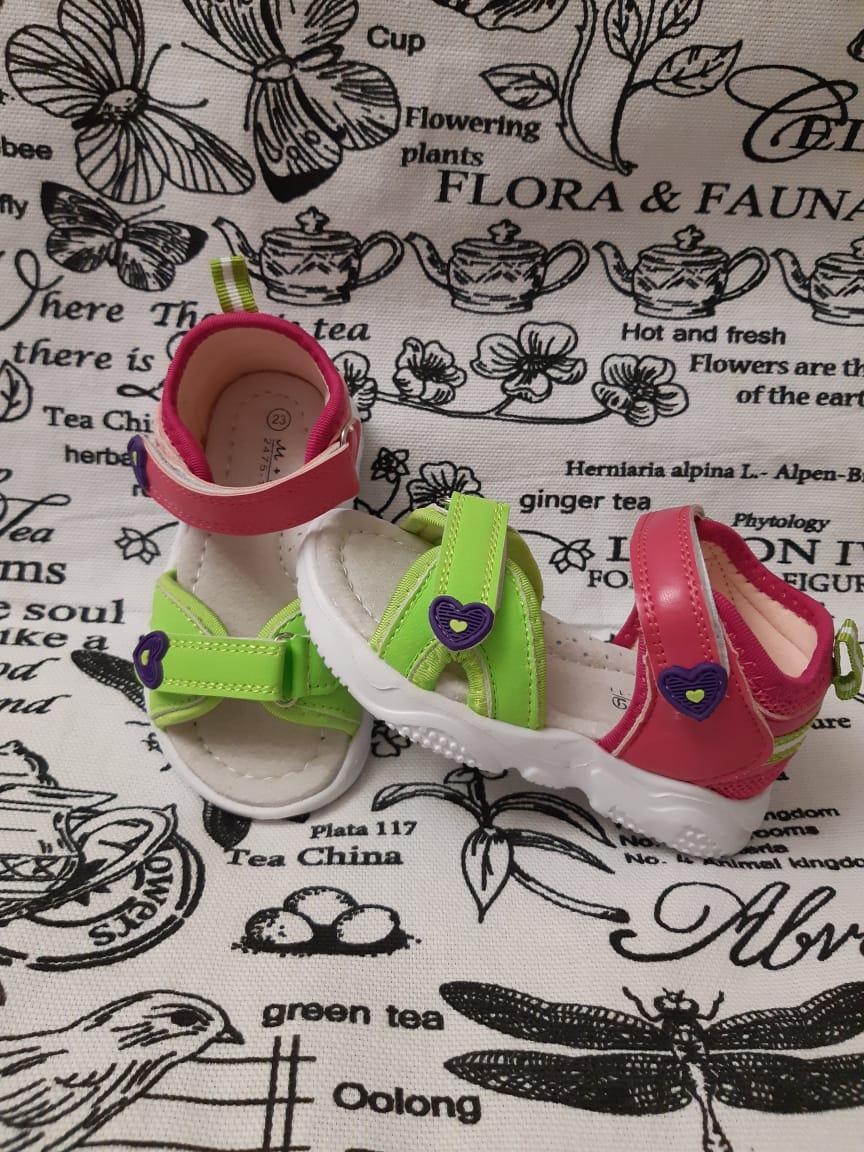 Детские сандалии для девочек М+Д, цвет: зеленый, артикул: 2475-11