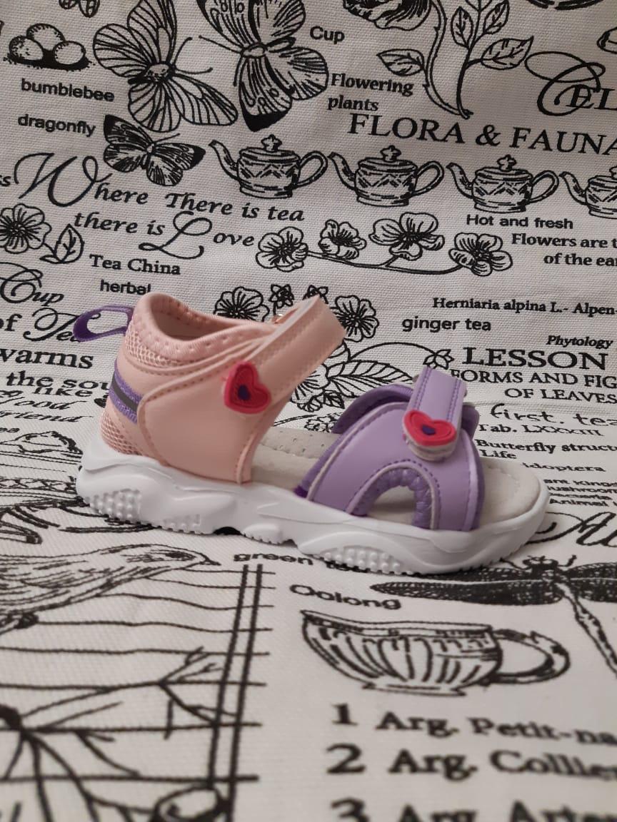 Детские сандалии для девочек М+Д, цвет: фиолетовый, артикул: 2475-11-1