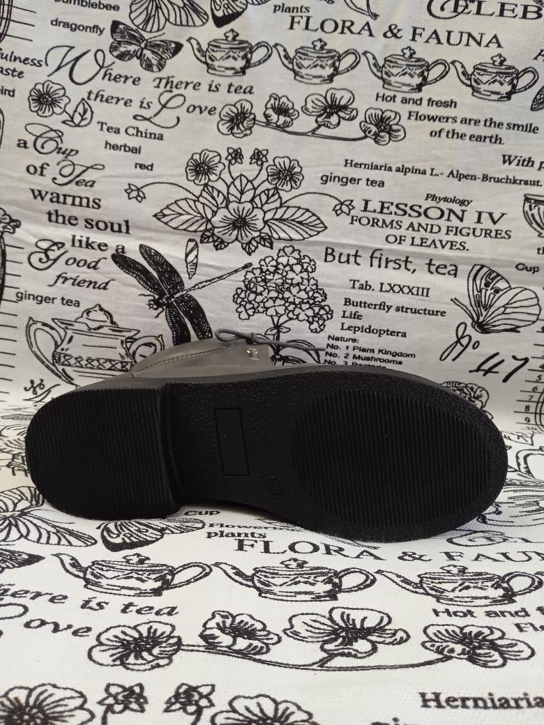 Детские ботинки для девочки Bonadda, цвет: серый, Артикул: BON-4