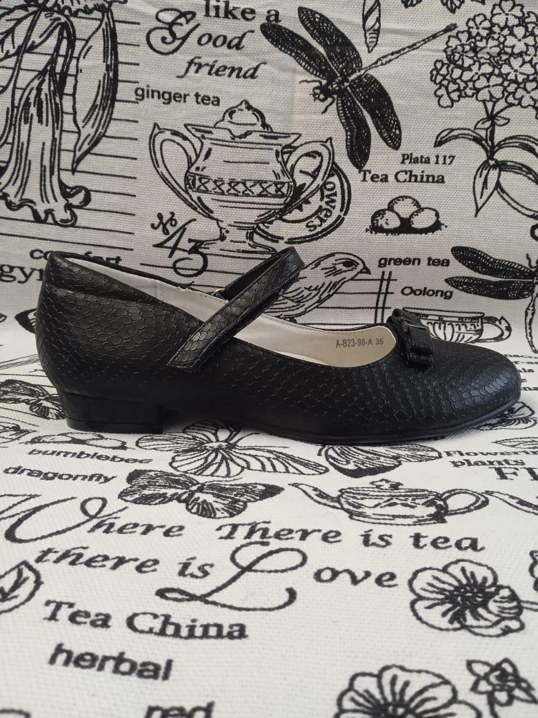 Детские туфли для девочек BI&KI, цвет: черный, артикул: A-B23-98-A