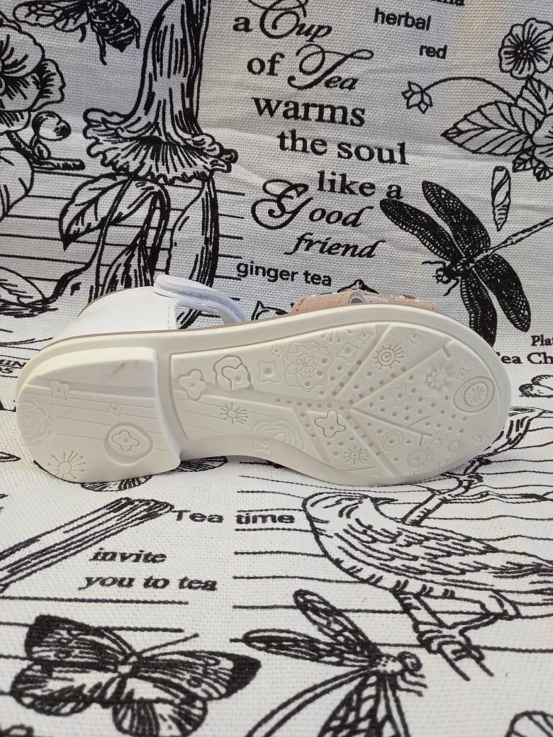 Детские сандалии для девочек ЧИПОЛЛИНО, цвет: коричневый, артикул: 6016-2
