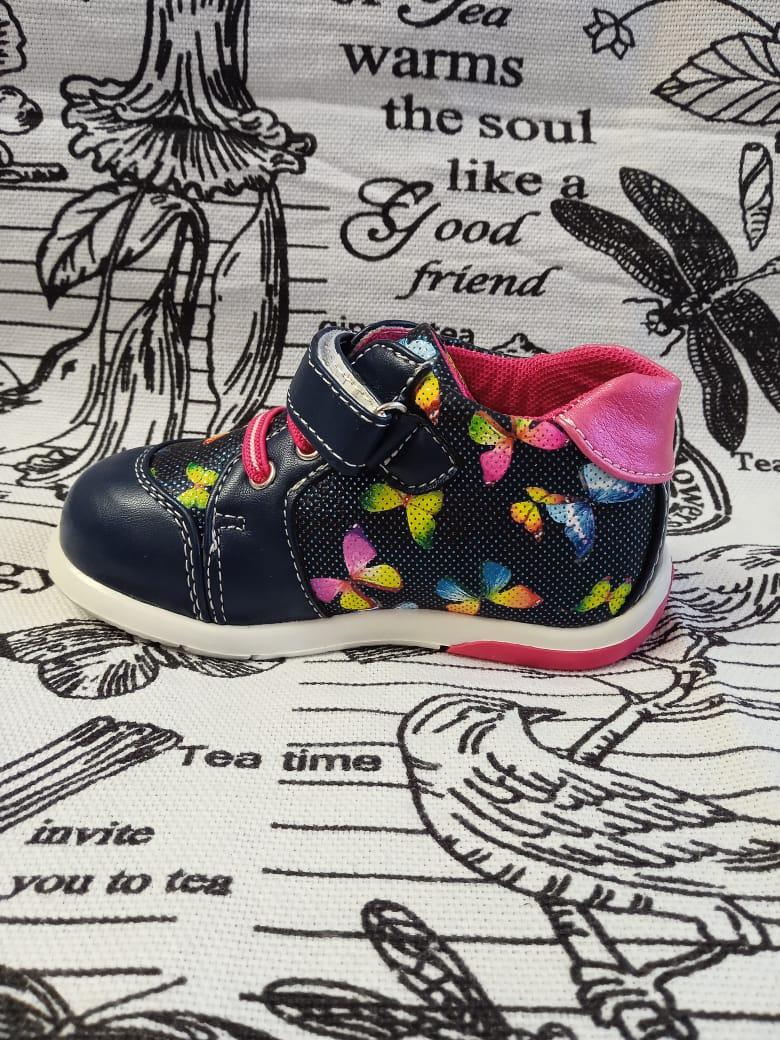 Детские ботинки для девочки M+D, цвет: синий, артикул: 91077-1