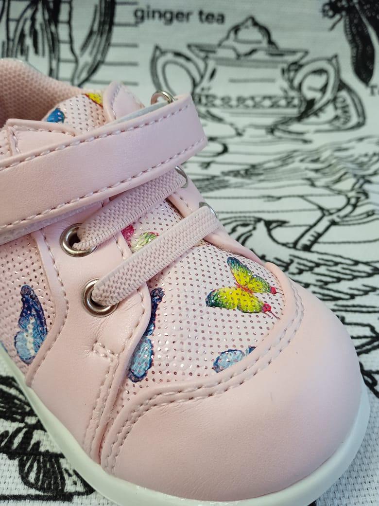 Детские ботинки для девочки M+D, цвет: розовый, артикул: 91077