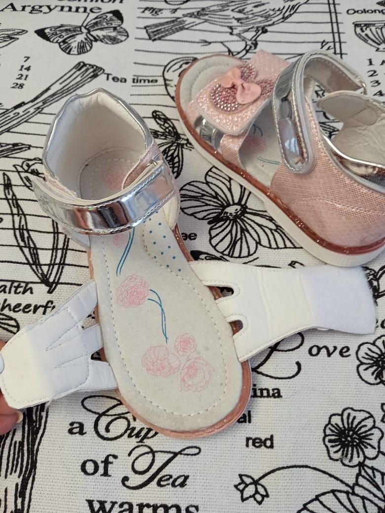 Детские сандалии для девочек ОТЛИЧНИК, цвет: розовый, артикул: SL8031C-1