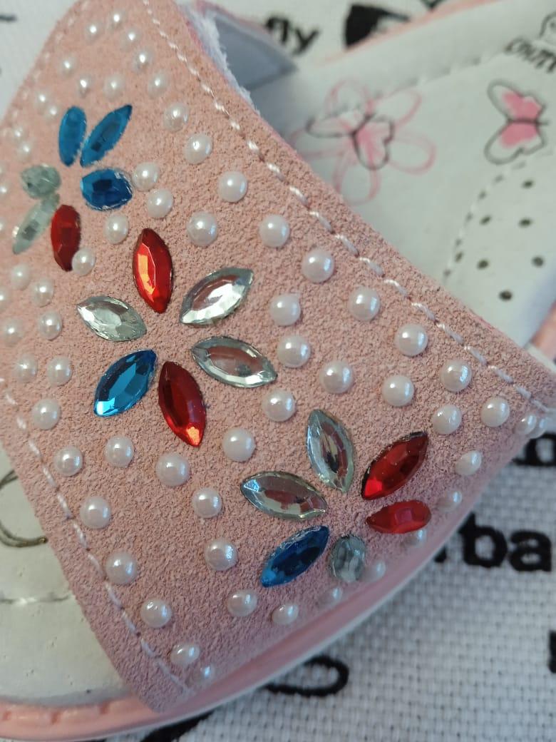 Детские сандалии для девочек ЧИПОЛЛИНО, цвет: розовый, артикул: 6016-4