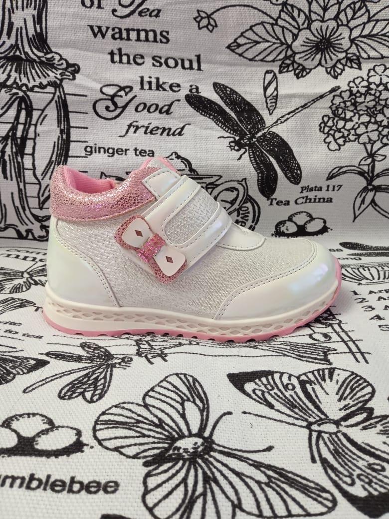 Детские ботинки для девочки АЛЕНКА, цвет: белый, артикул: ALN1