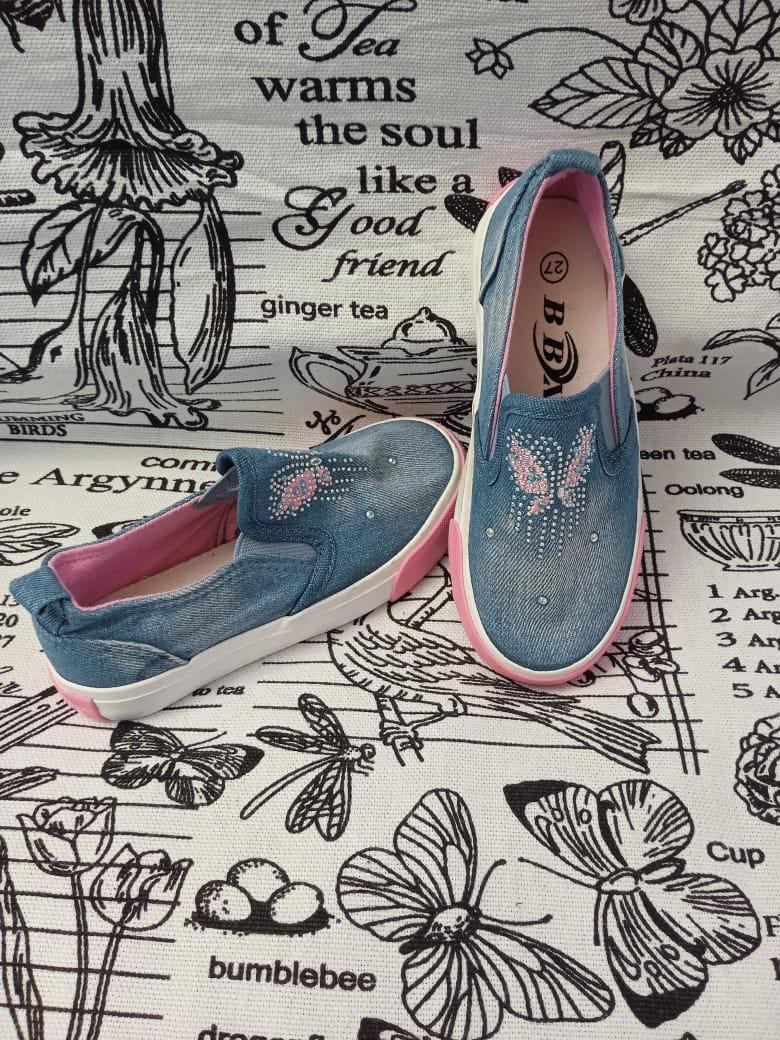 Детские кеды для девочек BBX, цвет: синий, артикул: BBX1