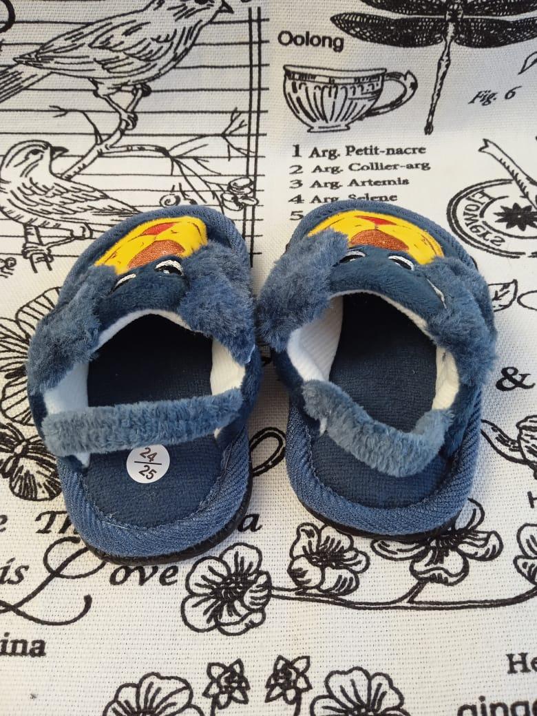 Купить детские домашние тапочки с резиночкой СОБАКА, цвет: синий