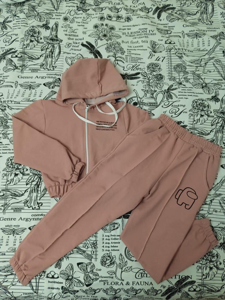 Детский спортивный костюм для девочки, цвет: розовый, артикул: HT19