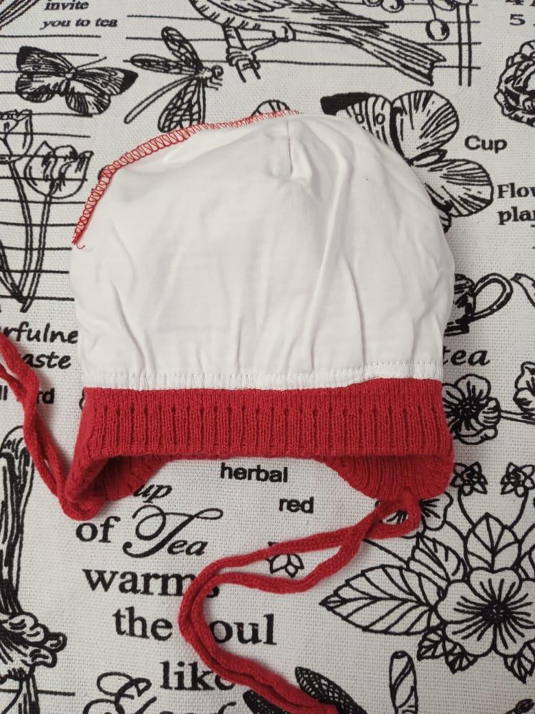 Детская шапка для новорожденных, цвет: бордовый, артикул: SHP22