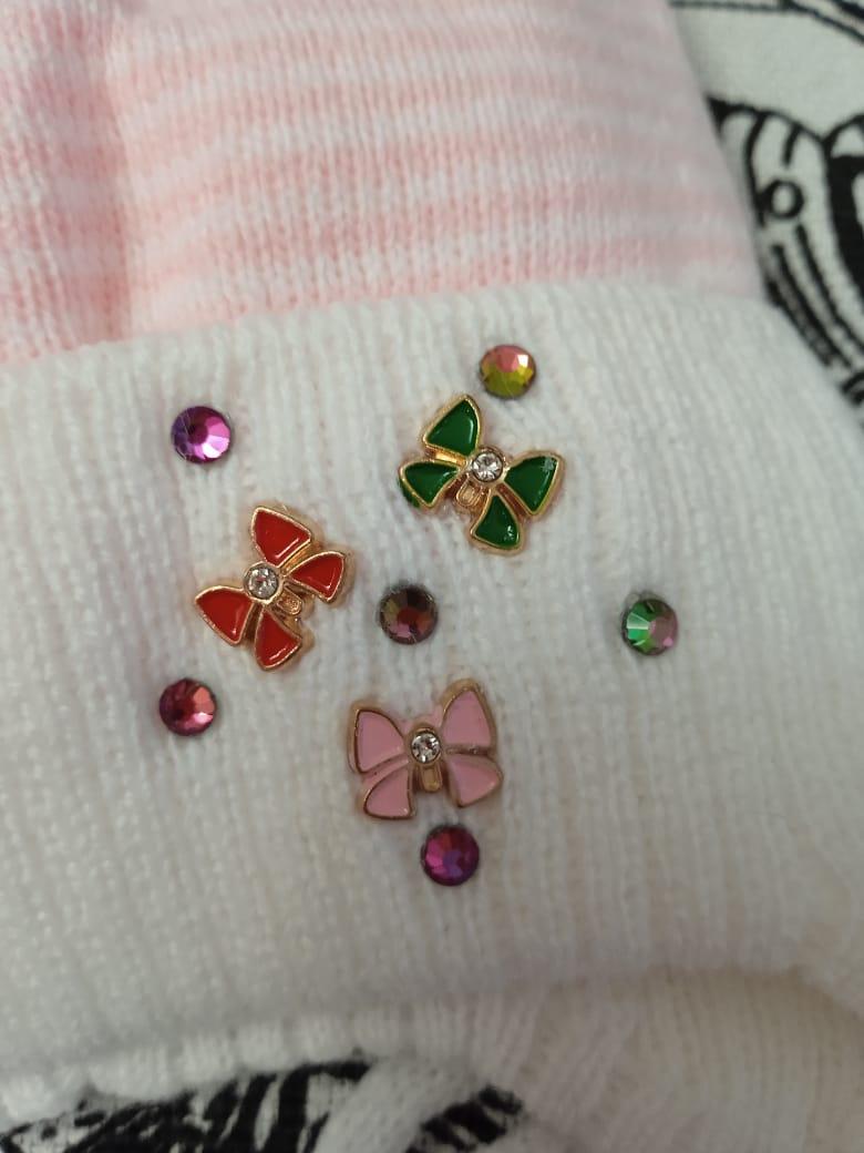 Детская шапка для новорожденных, цвет: бело-розовый, артикул: SHP25