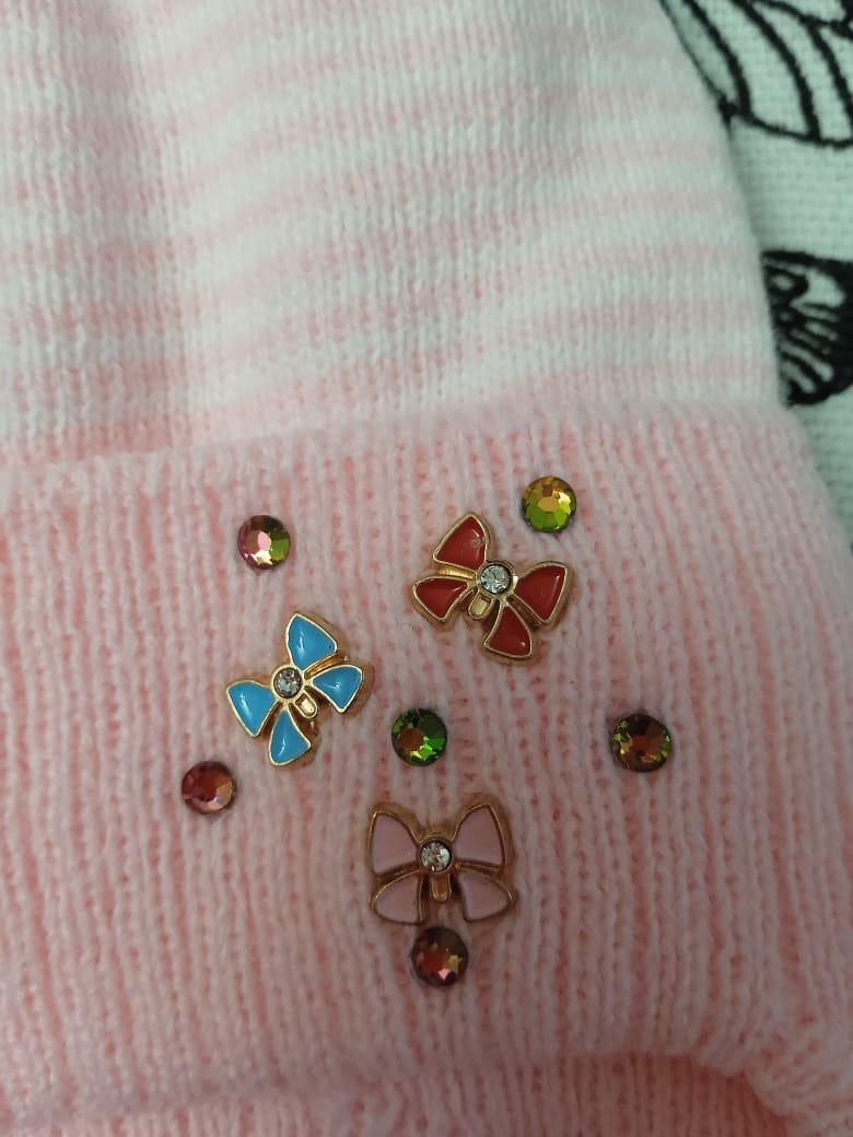 Детская шапка для новорожденных, цвет: розовый, артикул: SHP24