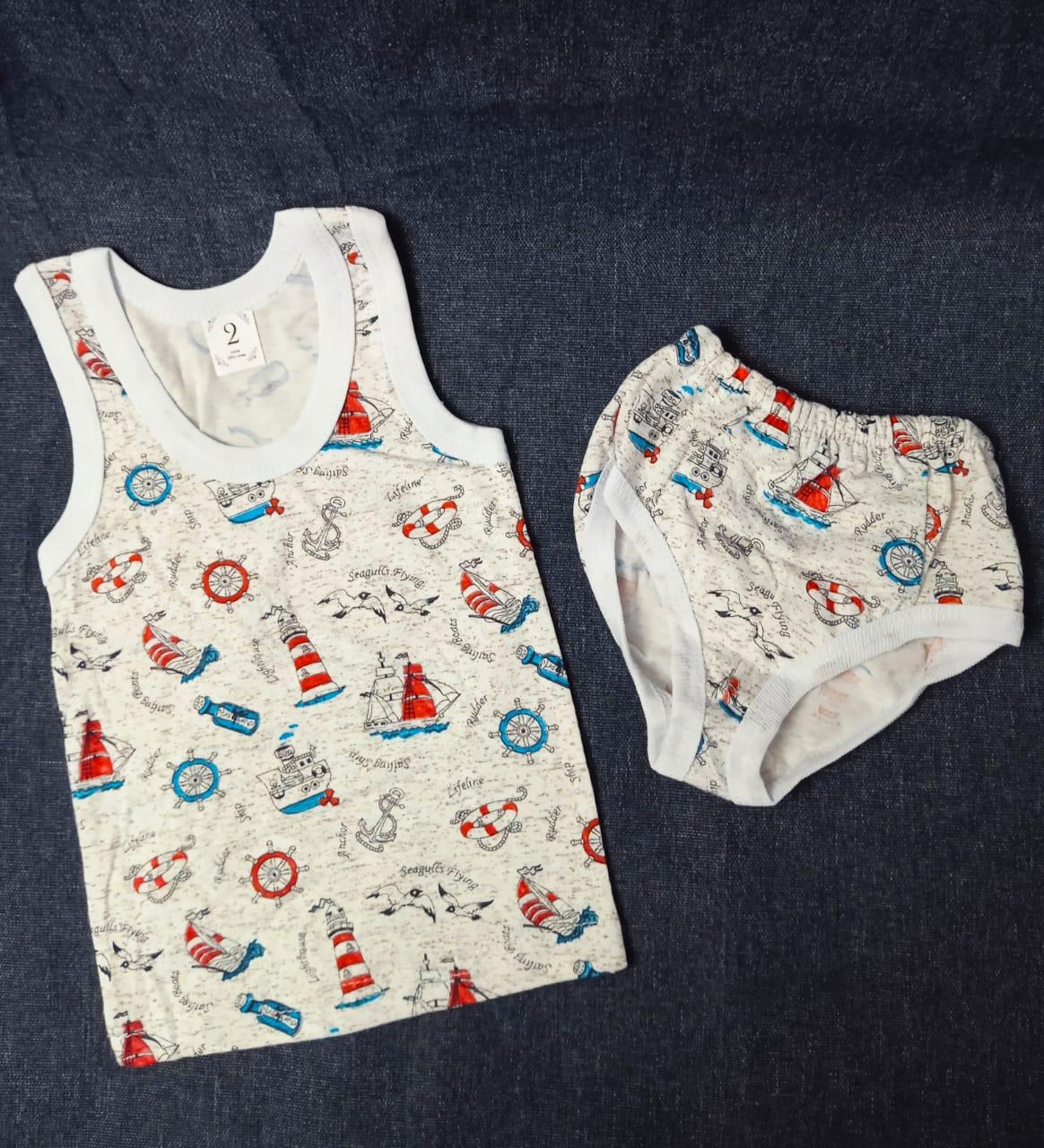 Детский комплект нижнего белья для мальчиков, артикул: KOM1