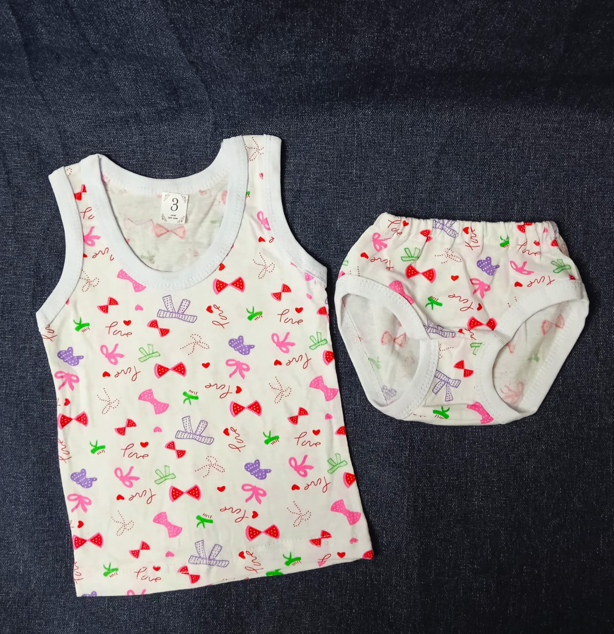 Детский комплект нижнего белья для девочек, артикул: KOM7