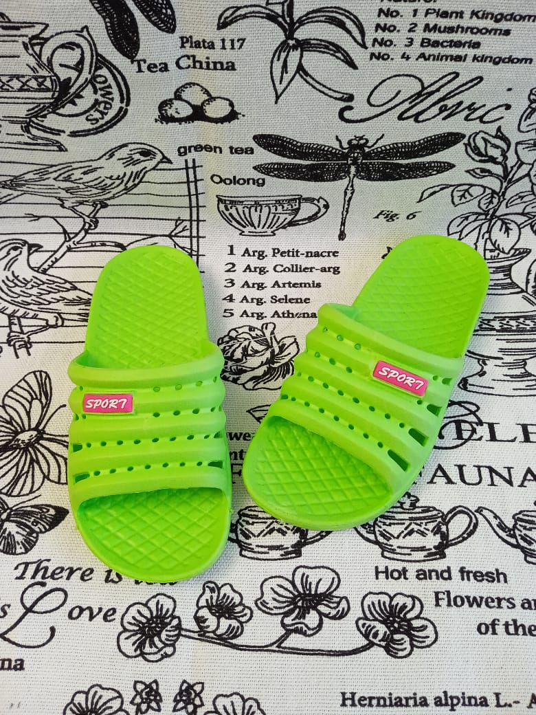 Детские шлепанцы, цвет: зеленый, артикул: 1603-2