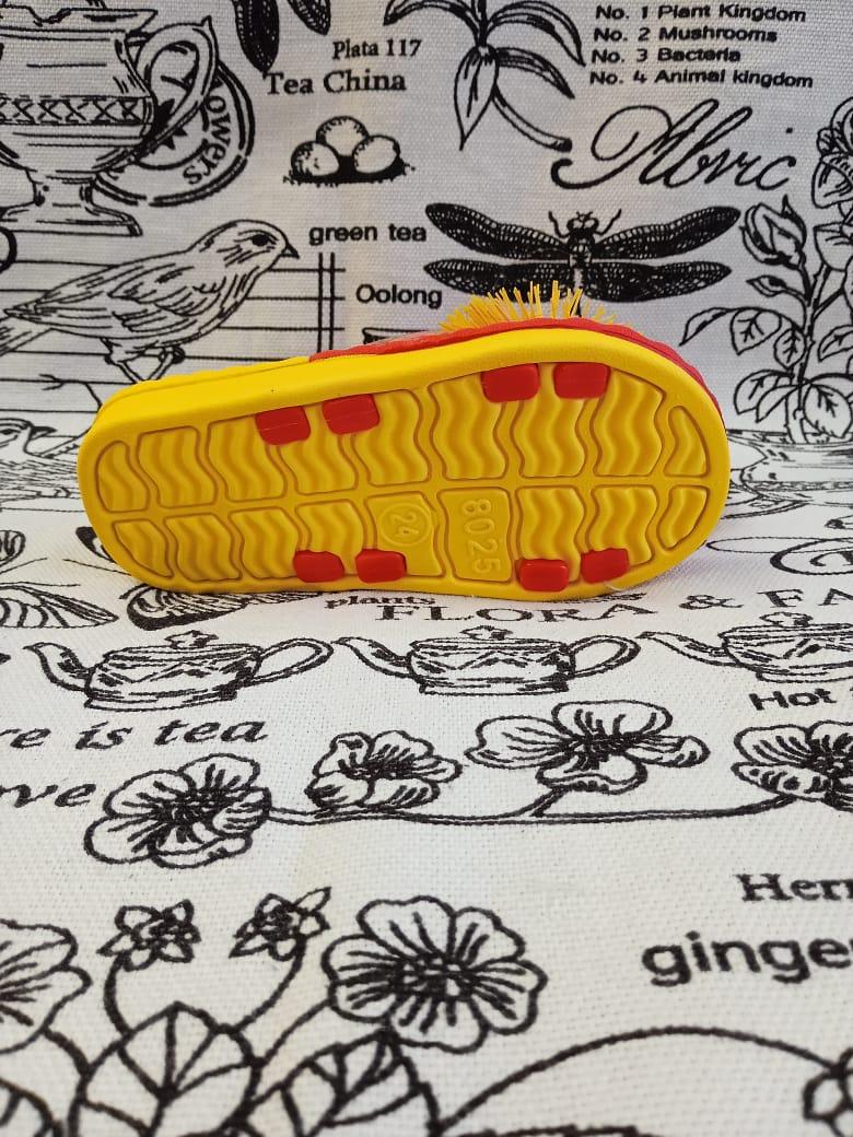 Детские шлепанцы для девочки, цвет: красно-желтый, артикул: 8025