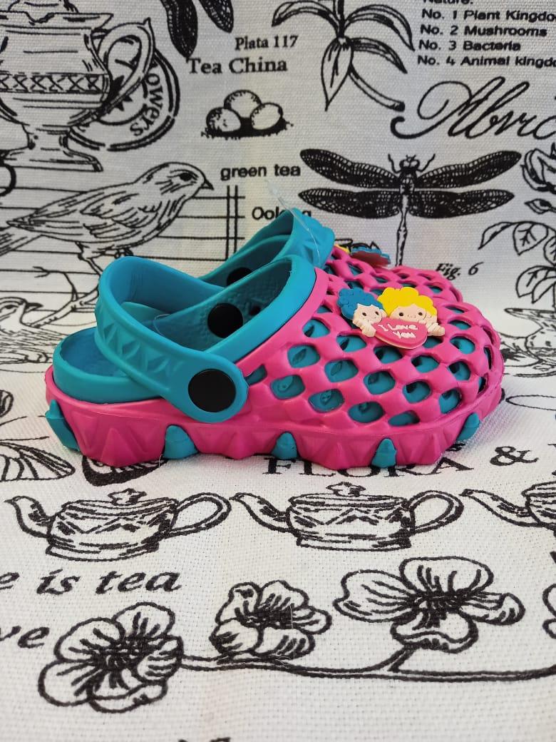 Детские сабо для девочки, цвет: фиолетовый, артикул: SAB2