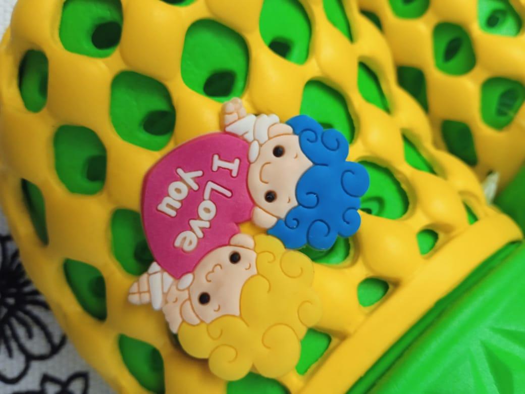 Детские сабо для девочки, цвет: желтый, артикул: SAB6