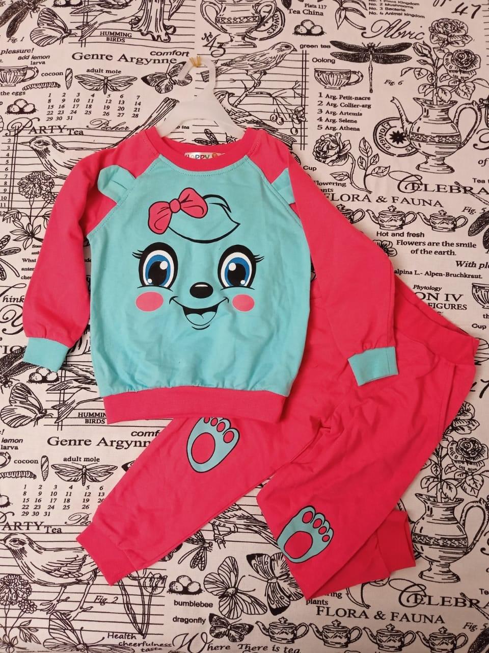 Детский спортивный костюм для девочки, цвет: бирюзовый, артикул: 8270-1