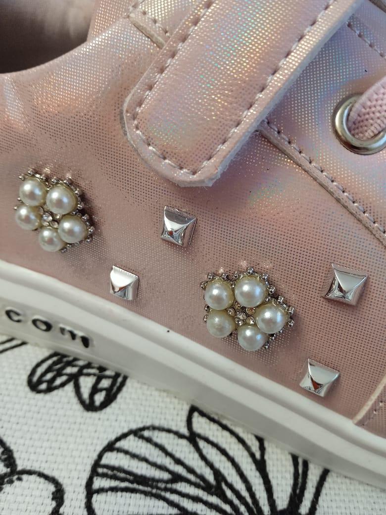 Детские кроссовки для девочек, цвет: розовый, артикул: TA19-3-5