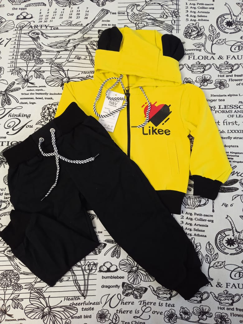 Детский спортивный костюм N&V, цвет: желтый, артикул: NV2